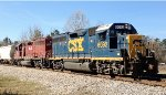 CSX GP40-2 6092 and HLCX GP40 4225 with local