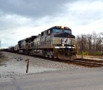 NS 9701 in the lead with northbound freight.