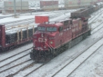 9720 runs light through Alyth Yard, Calgary