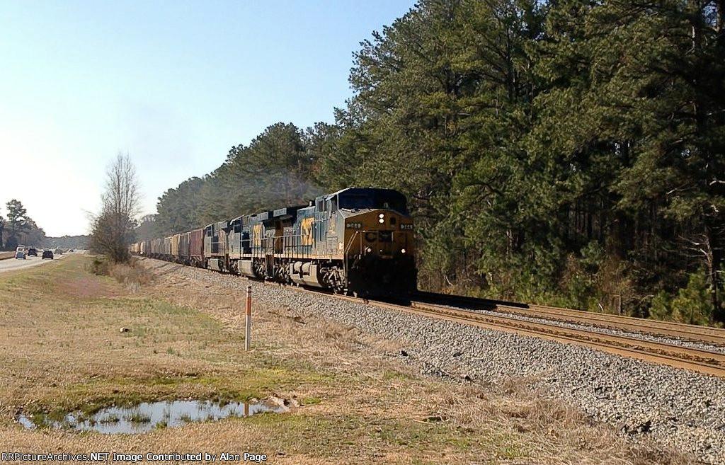 CSX AC44CW 344, AC60CW 669, and ES40DC 5382