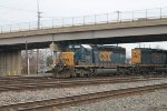 Eastbound coming out of the yard and passing under Harlem Rd Bridge
