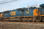 The second unit of a westbound intermodal that arrives to change crew