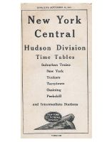 Hudson Division Timetable Cover c. 1947