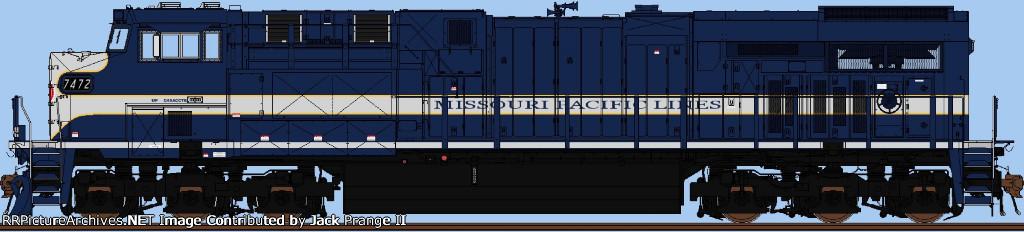 UP 7472 (Missouri Pacific)