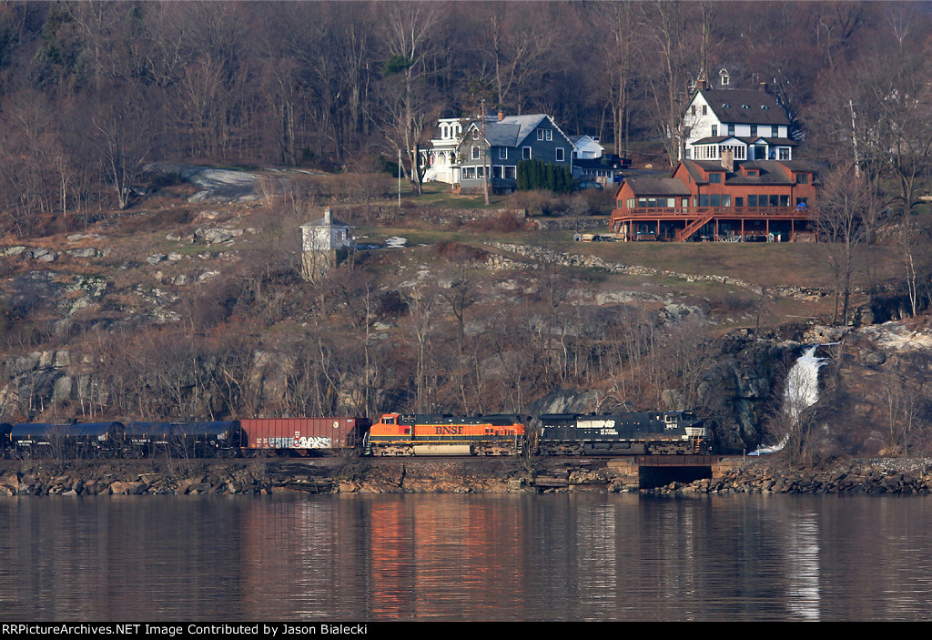 Empty Oil Train Crossing Highland Falls