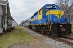 "HOG 1740 sits in Plains, GA on a layover for the ""Watermelon Express"""