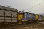 D&H U23B 2306, RS11 5001, and GP38-2 7316
