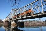 Crossing the old swing bridge