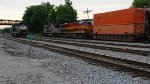 KCS IVNKC 14 passing NS local power sitting in the siding