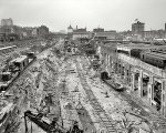 Excavations for N.Y. Grand Central Station. New York, 1908.