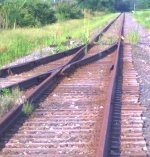 Ex-B&O track and ROW, looking east