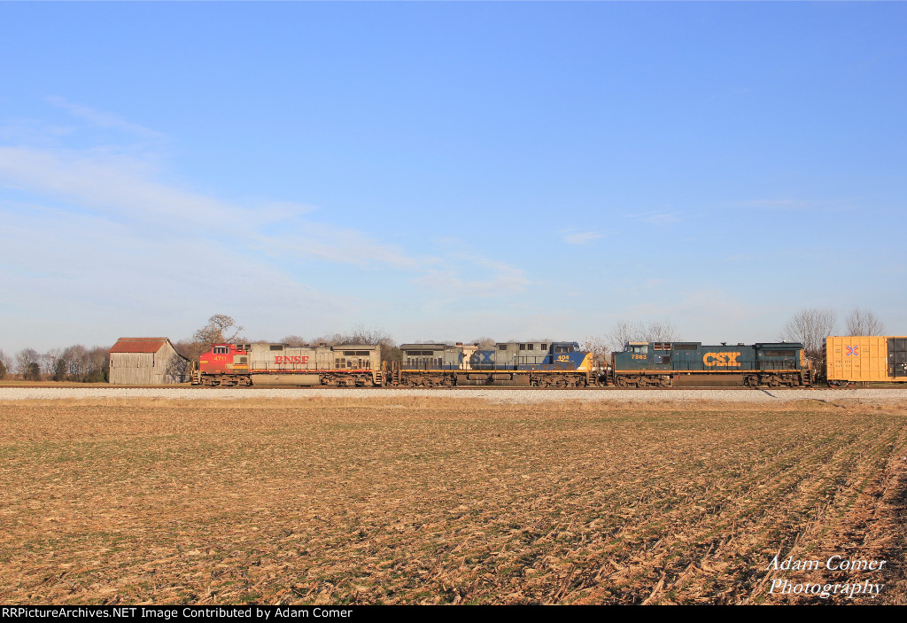 CSXT Q57630 with a BNSF Fakebonnet Leading