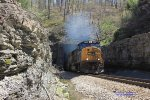 CSX 4563 emerges from South Tunnel, TN