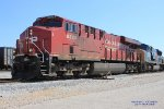 CP 8920 leads Q534 working the yard at Memphis Jct