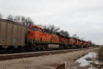 BNSF 5893, 5988, 9375, and 6149