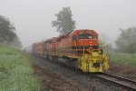 A thick morning fog blankets the rural area north of Sparta as last nights Z151 waits