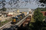 CSX 2729 & 4031 roll toward Wyoming Yard with D707