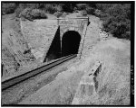 West portal of Tunnel 23, view to north, 135mm lens.