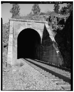 West portal of Tunnel 38, view to east, 135mm lens.
