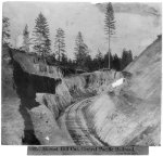 Hornet Hill Cut, Central Pacific Railroad near Gold Run 1866