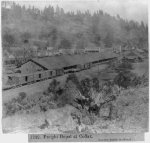 Freight Depot at Colfax - Central Pacific Railroad 1866