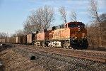 BNSF 5957 Leads a empty coal train up the K line.