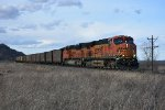BNSF 6261 Drags a coal load into Elsberry Mo.