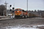BNSF 6434 Roars a coal load out of Old Monroe Mo.