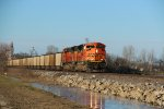 BNSF 9284 Rolls a load of coal out of Old Monroe Mo.