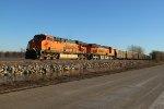 BNSF 6144 Leading a coal drag through Old Monroe Mo.