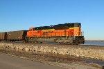 BNSF 9105 Dpu on a empty coal train.
