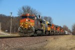 BNSF 4301 Leads 8 more unit's on a H-GALSTL.