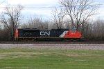 CN 8832 Roster shot.