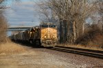 UP 6522 Leads a loaded potash train into Dupo IL.