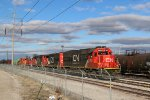 CN 5452 Sit's still while other Cn unit's Waite for work at Madison IL.