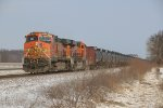 BNSF 4508 Dpu on a empty oil can.