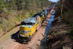UP 8717 CSX Train K140 Crude Oil Loads