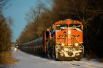 BNSF 6783 CSX Train K142 Crude Oil Loads