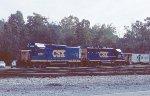 CSX yard engines at the Sandy Hook Yard.