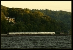 #48 Lake Shore Limited (AMTK 705) meets nb MetroNorth amid the setting sun on the Hudson River