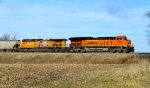 BNSF 3854 and UP 5588