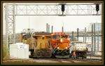 BNSF 3852, 5482, UP 7383