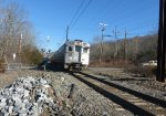 NJ Transit Gladstone Branch train 417 passes the former Mine Brook flag stop