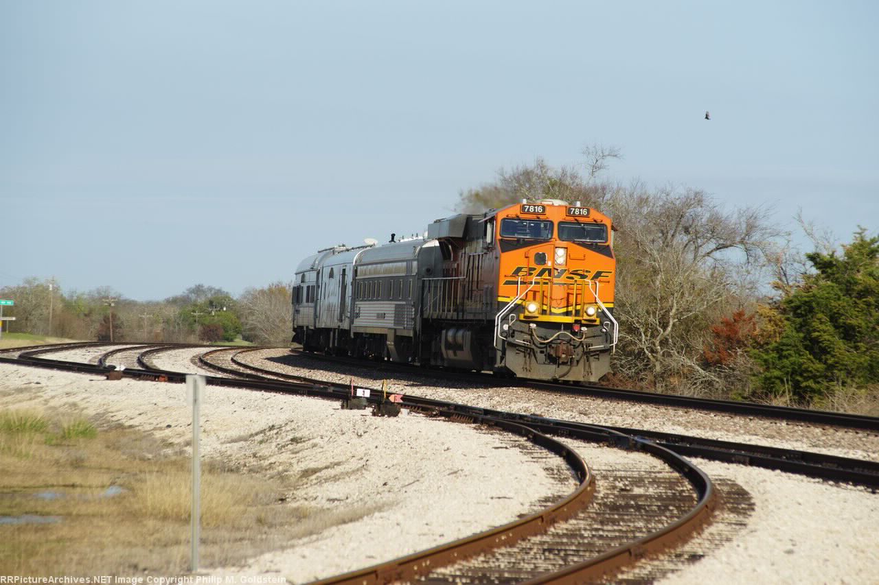 "BNSF Geometry Train, BNSF #7816, NXGX #380 ""Michael D. Harding"" BNSF #86, BNSF #85"