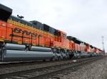 Side detail of BNSF 9374
