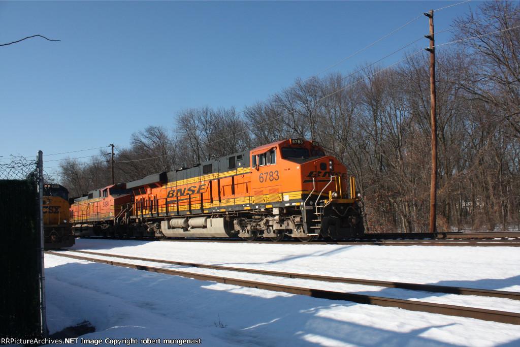 K 141 empty oil train 10:35 am