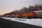 empty oil train  7 am