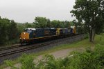 CSX 3225 leads the way west for Q248