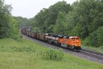 BNSF 8522 & 9836 make easy work of rolling the empty coal buckets of E922 west