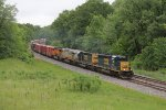 Q393 roars west out of Blue Grass Cut